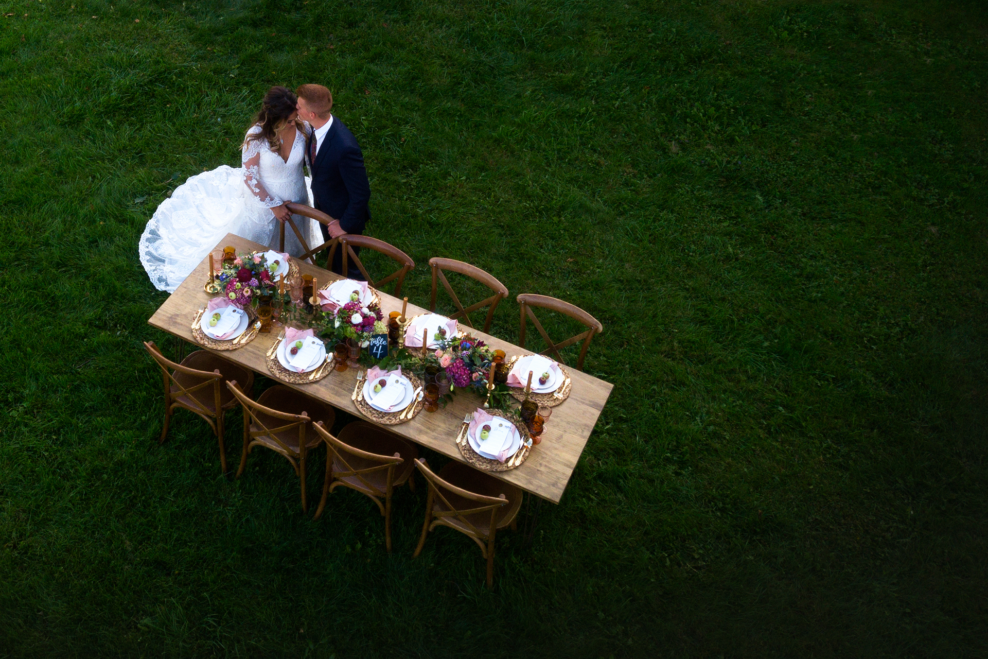 Bride and Groom Guest Table